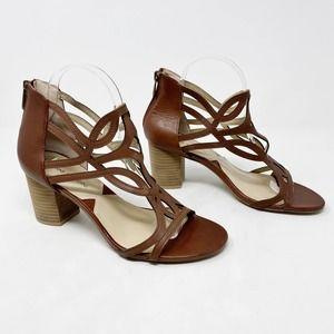 [Adrienne Vittadini] Cutout Block Heel Sandals
